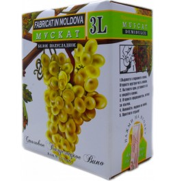 Вино Alianta-Vin, Muscat, bag-in-box, 3 л
